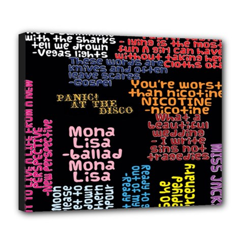 Panic At The Disco Northern Downpour Lyrics Metrolyrics Deluxe Canvas 24  X 20   by Onesevenart