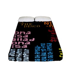Panic At The Disco Northern Downpour Lyrics Metrolyrics Fitted Sheet (full/ Double Size) by Onesevenart