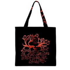 Panic At The Disco   Lying Is The Most Fun A Girl Have Without Taking Her Clothes Zipper Grocery Tote Bag by Onesevenart