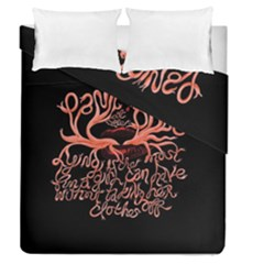 Panic At The Disco   Lying Is The Most Fun A Girl Have Without Taking Her Clothes Duvet Cover Double Side (queen Size) by Onesevenart