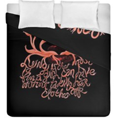 Panic At The Disco   Lying Is The Most Fun A Girl Have Without Taking Her Clothes Duvet Cover Double Side (king Size) by Onesevenart