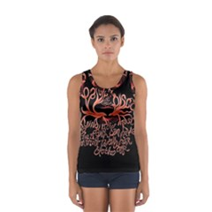 Panic At The Disco   Lying Is The Most Fun A Girl Have Without Taking Her Clothes Sport Tank Top  by Onesevenart