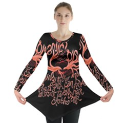 Panic At The Disco   Lying Is The Most Fun A Girl Have Without Taking Her Clothes Long Sleeve Tunic  by Onesevenart