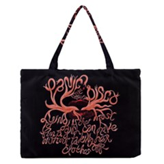 Panic At The Disco   Lying Is The Most Fun A Girl Have Without Taking Her Clothes Zipper Medium Tote Bag by Onesevenart