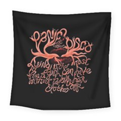 Panic At The Disco   Lying Is The Most Fun A Girl Have Without Taking Her Clothes Square Tapestry (large) by Onesevenart