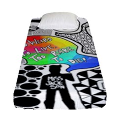 Panic ! At The Disco Fitted Sheet (single Size) by Onesevenart