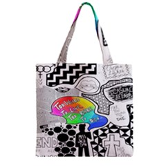Panic ! At The Disco Zipper Grocery Tote Bag by Onesevenart