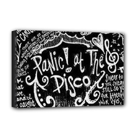 Panic ! At The Disco Lyric Quotes Deluxe Canvas 18  X 12   by Onesevenart