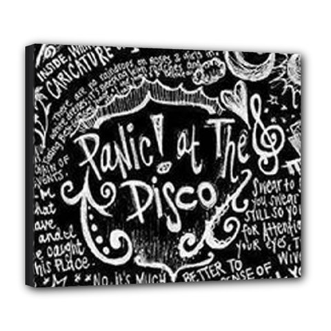 Panic ! At The Disco Lyric Quotes Deluxe Canvas 24  X 20   by Onesevenart