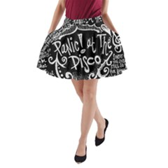 Panic ! At The Disco Lyric Quotes A Line Pocket Skirt by Onesevenart
