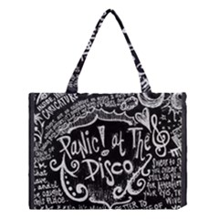 Panic ! At The Disco Lyric Quotes Medium Tote Bag by Onesevenart