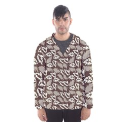 Dried Leaves Grey White Camuflage Summer Hooded Wind Breaker (men) by Mariart