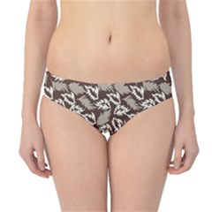 Dried Leaves Grey White Camuflage Summer Hipster Bikini Bottoms by Mariart