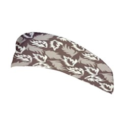 Dried Leaves Grey White Camuflage Summer Stretchable Headband by Mariart