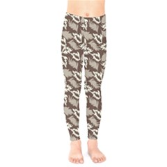 Dried Leaves Grey White Camuflage Summer Kids  Legging by Mariart