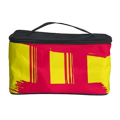 Fun Ain t Gone Fence Sign Red Yellow Flag Cosmetic Storage Case by Mariart