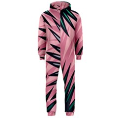 Graciela Detail Petticoat Palm Pink Green Hooded Jumpsuit (men)  by Mariart