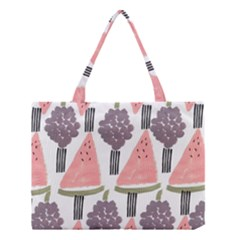 Grapes Watermelon Fruit Patterns Bouffants Broken Hearts Medium Tote Bag by Mariart