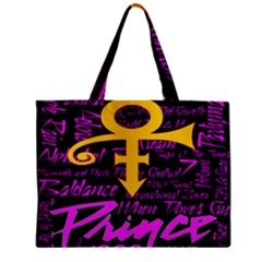 Prince Poster Zipper Mini Tote Bag by Onesevenart