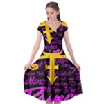 Prince Poster Cap Sleeve Wrap Front Dress