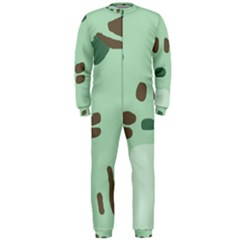 Lineless Background For Minty Wildlife Monster Onepiece Jumpsuit (men)