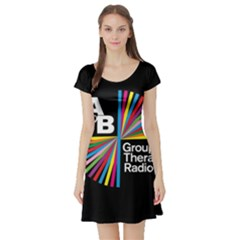 Above & Beyond  Group Therapy Radio Short Sleeve Skater Dress by Onesevenart