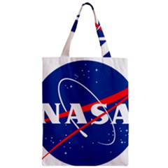 Nasa Logo Zipper Classic Tote Bag by Onesevenart