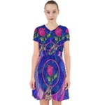 Enchanted Rose Stained Glass Adorable in Chiffon Dress