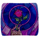 Enchanted Rose Stained Glass Back Support Cushion
