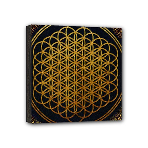 Bring Me The Horizon Cover Album Gold Mini Canvas 4  X 4  by Onesevenart