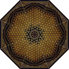 Bring Me The Horizon Cover Album Gold Hook Handle Umbrellas (medium) by Onesevenart