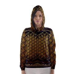 Bring Me The Horizon Cover Album Gold Hooded Wind Breaker (women) by Onesevenart