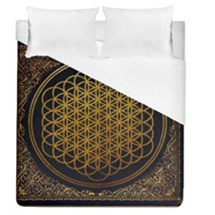 Bring Me The Horizon Cover Album Gold Duvet Cover (queen Size) by Onesevenart