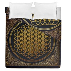 Bring Me The Horizon Cover Album Gold Duvet Cover Double Side (queen Size) by Onesevenart
