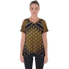 Bring Me The Horizon Cover Album Gold Cut Out Side Drop Tee by Onesevenart
