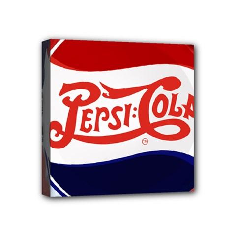 Pepsi Cola Mini Canvas 4  X 4  by Onesevenart