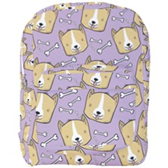 Corgi Pattern Full Print Backpack by Onesevenart