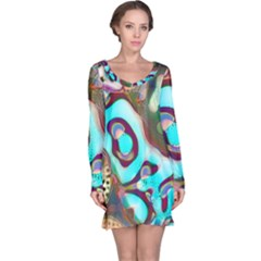 Multiscale Turing Pattern Recursive Coupled Stone Rainbow Long Sleeve Nightdress by Mariart
