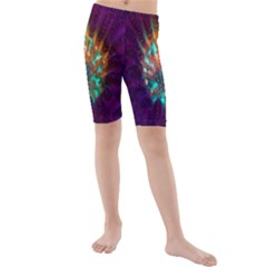 Live Green Brain Goniastrea Underwater Corals Consist Small Kids  Mid Length Swim Shorts by Mariart