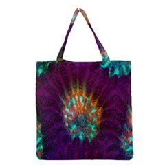 Live Green Brain Goniastrea Underwater Corals Consist Small Grocery Tote Bag by Mariart