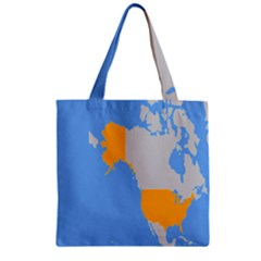 Map Transform World Zipper Grocery Tote Bag by Mariart