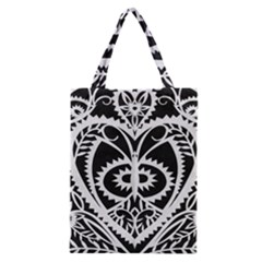 Paper Cut Butterflies Black White Classic Tote Bag by Mariart