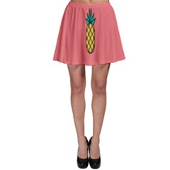 Pineapple Fruite Minimal Wallpaper Skater Skirt by Mariart