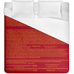 Mrtacpans Writing Grace Duvet Cover (king Size) by MRTACPANS