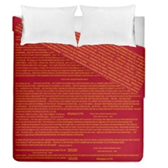 Mrtacpans Writing Grace Duvet Cover Double Side (queen Size) by MRTACPANS
