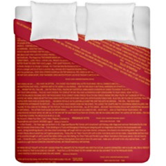 Mrtacpans Writing Grace Duvet Cover Double Side (california King Size) by MRTACPANS
