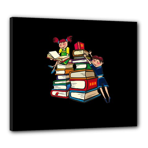 Back To School Canvas 24  X 20  by Valentinaart
