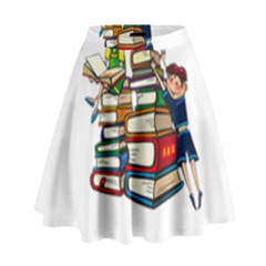 Back To School High Waist Skirt by Valentinaart
