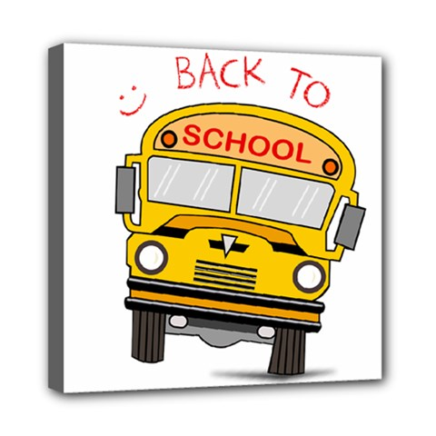 Back To School   School Bus Mini Canvas 8  X 8  by Valentinaart