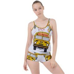 Back To School   School Bus Boyleg Tankini Set